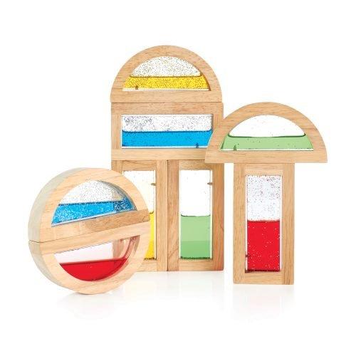 Fine Sensory Shimmering Water Blocks Wood With Acrylic Windows Home Interior And Landscaping Mentranervesignezvosmurscom